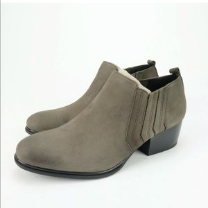 Isola DEVEN Steel Gray Leather Ankle Boots Bootie